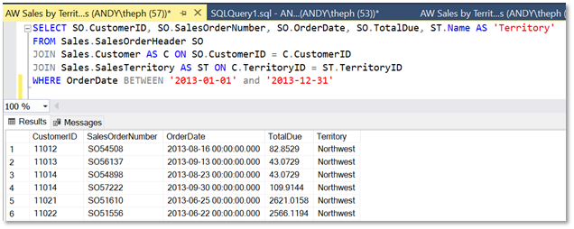 SQL Sample Query