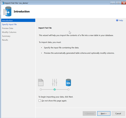 SSMS - Import Flat File Wizard1