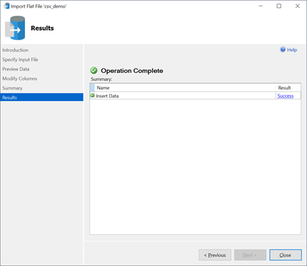 SSMS - Import Flat File Wizard6