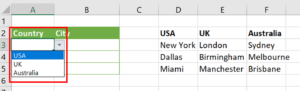 Country drop-down